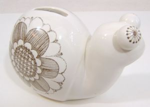 Carlton Ware Bug-Eyed Snail Money Box - Pale Grey